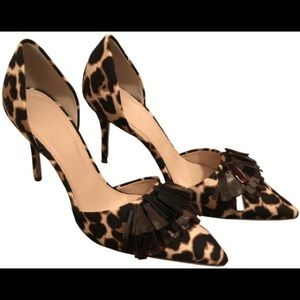 •J. Crew• Elsie Leopard Pumps with Tassels